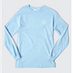 NWT Glossier Blue long sleeve shirt size XL